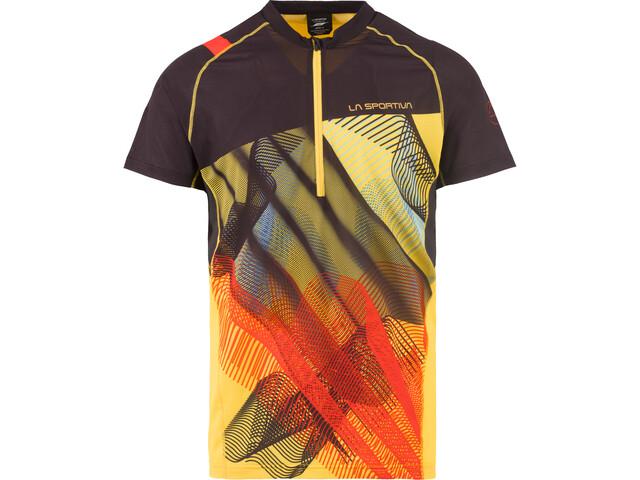 La Sportiva Xcelerator Camiseta Hombre, black/yellow
